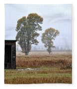 The Country Outhouse Fleece Blanket