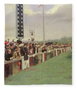 The Course At Longchamps Fleece Blanket
