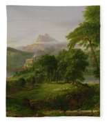 The Course Of Empire   The Arcadian Or Pastoral State Fleece Blanket