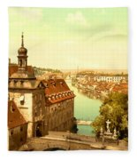 The Court House-bamberg-bavaria-germany - Between 1890 And 1900 Fleece Blanket