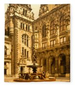The Court House-hamburg-germany - Between 1890 And 1900 Fleece Blanket