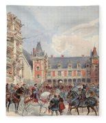 The Court In Chateaus Of The Loire Fleece Blanket