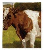 The Cow Fleece Blanket