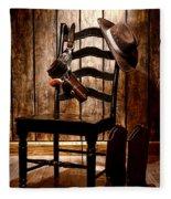 The Cowboy Chair Fleece Blanket