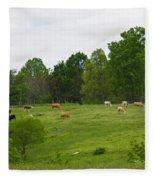 The Cows Of May Fleece Blanket