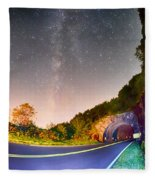 The Craggy Pinnacle Tunnel On The Blue Ridge Parkway  Fleece Blanket