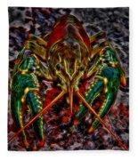 The Crawdad Digital Art Fleece Blanket