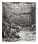 The Creation Of Fish And Birds Fleece Blanket
