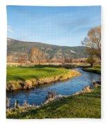 The Creek Runs Through Fleece Blanket