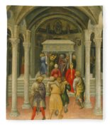 The Crippled And Sick Cured At The Tomb Of Saint Nicholas Fleece Blanket