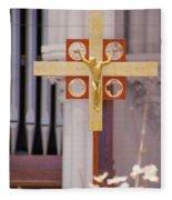 The Cross Fleece Blanket