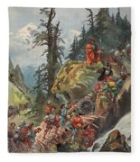 The Crossing Of The Alps, Illustration Fleece Blanket