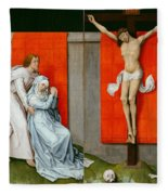 The Crucifixion With The Virgin And Saint John The Evangelist Mourning Fleece Blanket