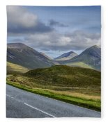The Cuillin Mountains Of Skye 2 Fleece Blanket