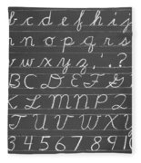 The Cursive Alphabet Fleece Blanket