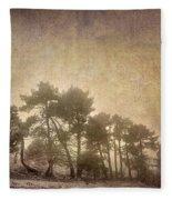 The Curved Tree Fleece Blanket