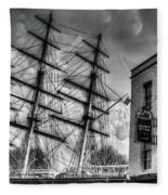 The Cutty Sark And Gipsy Moth Pub Greenwich Fleece Blanket