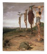 The Damned Field Execution Place In The Roman Empire Fleece Blanket