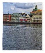 The Dance Hall At The Boardwalk Walt Disney World Fleece Blanket