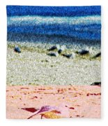 The Dancing Seagull Fleece Blanket
