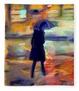 The Day For An Umbrella Fleece Blanket