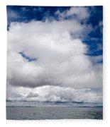 Cloudscape Over Lake Titicaca Peru Fleece Blanket