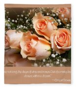 The Days Of Wine And Roses Fleece Blanket