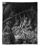 The Dead Sailors Rise Up And Start To Work The Ropes Of The Ship So That It Begins To Move Fleece Blanket