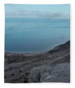 The Dead Sea - Looking At Jordan Fleece Blanket