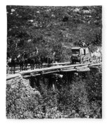 The Deadwood Coach, 1889 Fleece Blanket