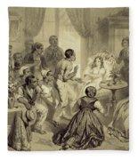 The Death Of Evangeline, Plate 6 Fleece Blanket