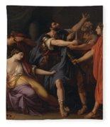 The Death Of Lucretia Fleece Blanket