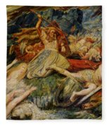 The Death Of Siegfried Fleece Blanket