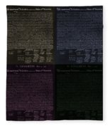 The Declaration Of Independence In Negative Colors Fleece Blanket