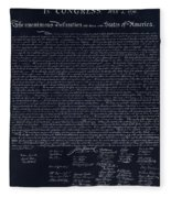 The Declaration Of Independence In Negative  Fleece Blanket