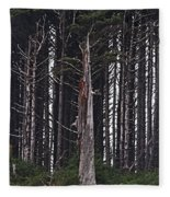 The Deep Dark Sharp Forest Fleece Blanket