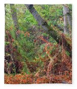 The Deep Rainy In The Mysterious Forest Fleece Blanket
