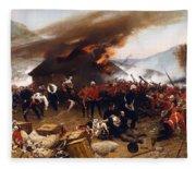 The Defence Of Rorke's Drift 1879 Fleece Blanket