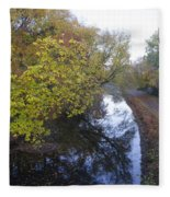 The Delaware Canal In Morrisville Pa Fleece Blanket