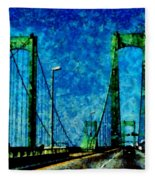 The Delaware Memorial Bridge Fleece Blanket