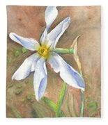 The Delicate Autumn Lady - Narcissus Serotinus Fleece Blanket
