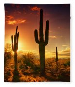 The Desert Awakens  Fleece Blanket