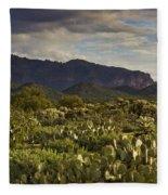 The Desert Is Wearing A Carpet Of Green  Fleece Blanket