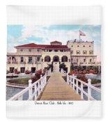 The Detroit Boat Club - Belle Isle - 1910 Fleece Blanket