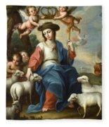 The Divine Shepherdess Fleece Blanket