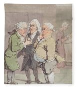 The Doctors Consultation, 1815-1820 Pen And Ink And Wc Over Graphite On Paper Fleece Blanket