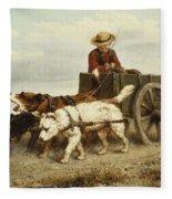 The Dog Cart Fleece Blanket