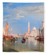 The Dogana And San Giorgio Maggiore Fleece Blanket