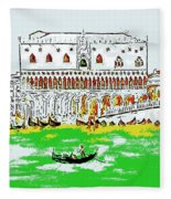 The Doge's Palace Fleece Blanket