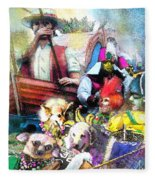 The Dogs Parade In New Orleans Fleece Blanket